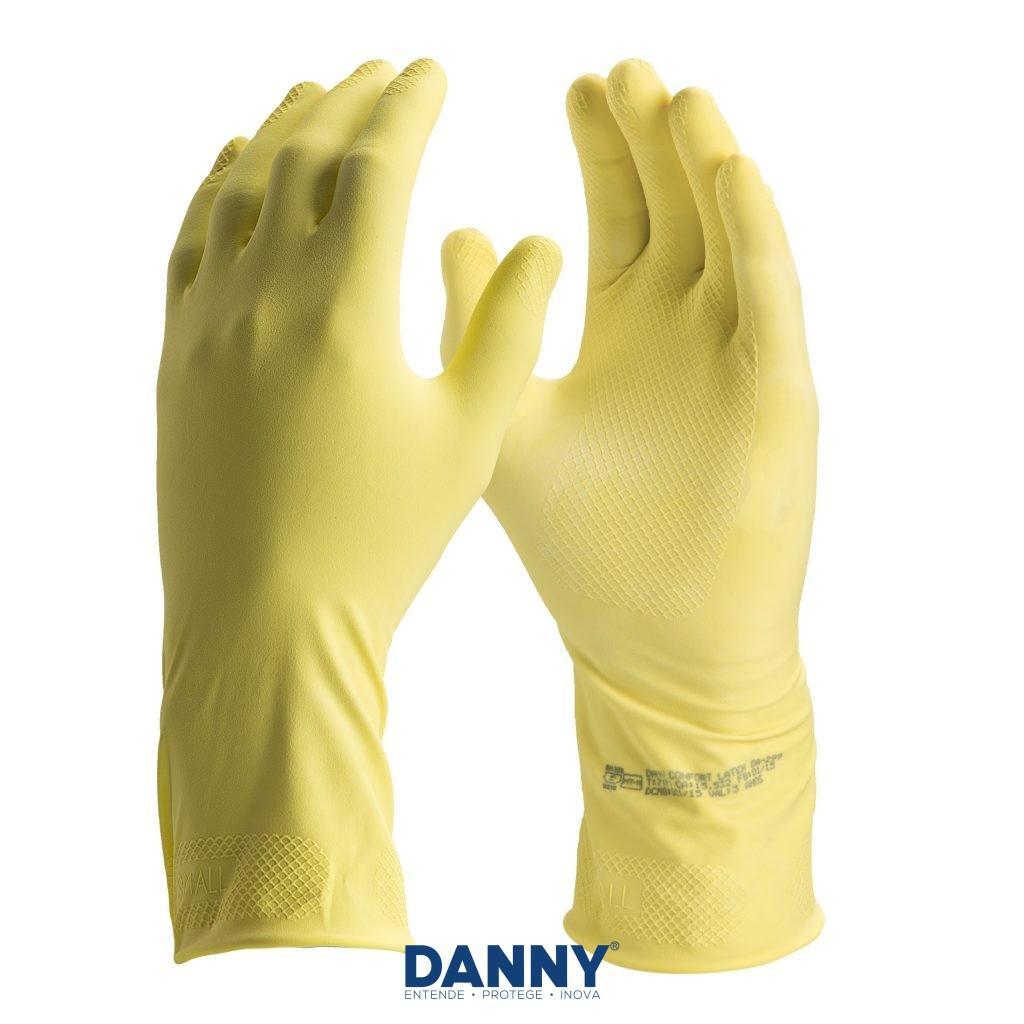 Luva forrada antiderrapante de látex revestimento interno de algodão - Confort Látex DANNY