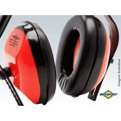 Abafador de ruído super leve com regulagem vermelho - BRASFORT CA 33055